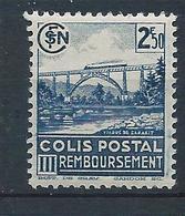 FRANCE - 1942-43 - Colis Postaux - Y.T. N°189B - Sans Filigrane - 2 F. 50 Bleu - Remboursement - Neuf** - TTB - Colis Postaux