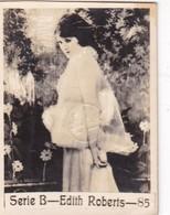 EDITH ROBERTS. CARD TARJETA COLECCIONABLE TABACO. CIRCA 1940s SIZE 4.5x5.5cm - BLEUP - Personalità