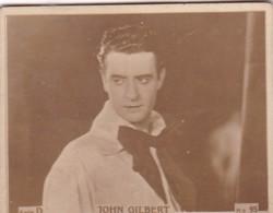 JOHN GILBERT. CARD TARJETA COLECCIONABLE TABACO. CIRCA 1940s SIZE 4.5x5.5cm - BLEUP - Personalità