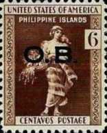 UN-USED STAMPS Philippines - Local Motifs - Philliphines Postage Stamp (O.B) Overprinted -1935 - Philippines