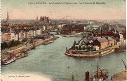 NANTES - Le Quai De La Fosse Et Les Iles Feydeau Et Gloriette - Nantes
