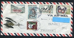 1962  MALAGASY -  AIR MAIL Cover , 5 Stamps Mailed To VERJON , MADAGASCAR. Animals, Butterfly - Madagascar (1960-...)