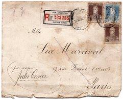 LSC 1926 - Recommandé Et Cachets  BUENOS AIRES Sur Timbres YT 278 (x2) & YT 284 - Argentine