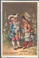 Chromo Veuve BLOCH à La Botte Hercule Lunéville Gibert Clarey Lot De 6 Histoire Du Costume Danse Pierrot - Trade Cards