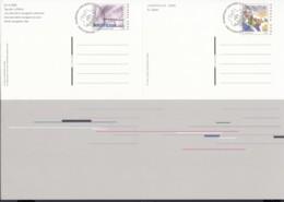 SCHWEIZ  P 274 + P 275, Im DinA 4 Bogen, Gestempelt, NABA JUNAPHILEX 2000 - Entiers Postaux