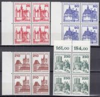 BERLIN  587-590, 4erBlock 2 Waagerechte Paare, Postfrisch **, Burgen Und Schlösser 1978 - Ungebraucht