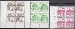 BERLIN  611 A, 614-615 A, 4erBlock 2 Waagerechte Paare, Postfrisch **, Burgen Und Schlösser 1979/80 - Ungebraucht