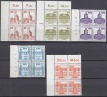 BERLIN  673-677 A, 4erBlock 2 Waagerechte Paare, Postfrisch **, Burgen Und Schlösser 1982 - Berlin (West)