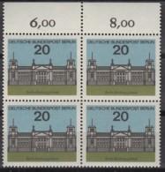 BERLIN  236, 4erBlock, Postfrisch **, Hauptstädte Deer Bundesländer 1964 - Unused Stamps