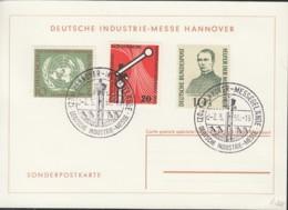 BRD 219, 221, 223 Auf Sonderkarte Mit Sonderstempel: Hannover Messe 2.5.1956 - BRD