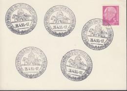 BRD 179 Auf Karte Mit Sonderstempel: Vohburg über Ingolstadt Besucht Die Alte Herzogstadt 25.4.1955 - BRD