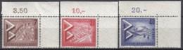 BERLIN 160-162 Mit Eckrand Oben Rechts, Postfrisch **. INTERBAU 1957 - Unused Stamps