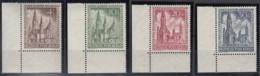 BERLIN 106-109 Mit Eckrand Oben Rechts, Postfrisch **. Kaiser-Wilhelm-Gedächtniskirche 1953 - Unused Stamps