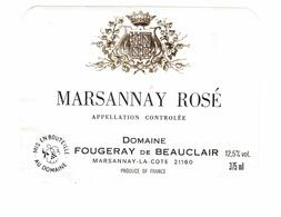 Rare Etiquette De Vin // Rosé // Marsannay Rosé // Domaine Fougeray De Beauclair - Rosés