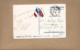 Cachet Poste Aux Armées 1940 Sur CP Militaire - Storia Postale