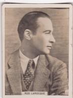ROD LAROCQUE. CIGARRILLOS CRACK. CARD TARJETA COLECCIONABLE TABACO. CIRCA 1940s SIZE 5x6cm - BLEUP - Personalità