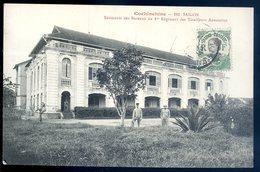 Cpa Du Viêt Nam Cochinchine Saigon Bâtiments Des Bureaux Du 1er Régiment Des Tirailleurs Annamites   AFS6bis - Viêt-Nam