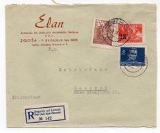 1946 YUGOSLAVIA, SLOVENIA, BEGUNJE TO BELGRADE, ELAN, SKI MANUFACTURER, RECORDED - 1945-1992 Sozialistische Föderative Republik Jugoslawien