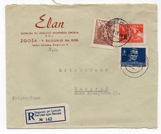 1946 YUGOSLAVIA, SLOVENIA, BEGUNJE TO BELGRADE, ELAN, SKI MANUFACTURER, RECORDED - 1945-1992 Socialist Federal Republic Of Yugoslavia