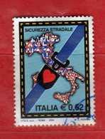 Italia- °- 2004- SICUREZZA STRADALE - Unif. 2790.  Usato.   Vedi Descrizione - 1946-.. République