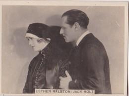 ESTHER RALSTON, JACK HOLT. CIGARRILLOS CRACK. CARD TARJETA COLECCIONABLE TABACO. CIRCA 1940s SIZE 5x6cm - BLEUP - Personalità