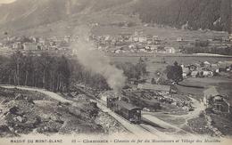 74 CHAMONIX MONT BLANC  TRAIN A CREMAILLERE DU MONTENVERS GLACIER DE LA MER DE GLACE VERS LES MOUILLES EDIT CATALA  62 - Chamonix-Mont-Blanc