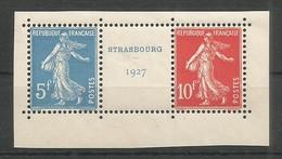 France Spink 242A Paire Du Bloc Strasbourg 1927 MNH/** Cote: 1.200,00€ - France
