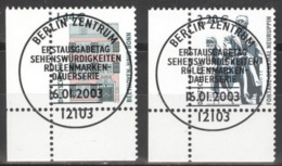 BRD 2306/07 Eckrand Links Unten O Sonderstempel Berlin - BRD