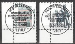 BRD 2306/07 Eckrand Links Unten O Sonderstempel Berlin - Gebraucht