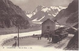 74 CHAMONIX MONT BLANC GARE ARRIVEE TRAIN A CREMAILLERE DU MONTENVERS GLACIER DE LA MER DE GLACE ED LEVY LL 27 - Chamonix-Mont-Blanc