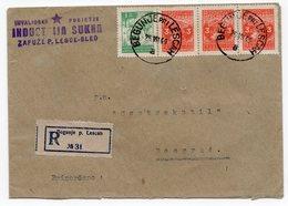 1949 YUGOSLAVIA, SLOVENIA, BEGUNJE TO BELGRADE, TEXTILE MILL, ZAPUZE P. LESCE-BLED - 1945-1992 Socialist Federal Republic Of Yugoslavia