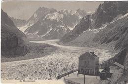 74 CHAMONIX MONT BLANC GARE ARRIVEE TRAIN A CREMAILLERE DU MONTENVERS GLACIER DE LA MER DE GLACE ED JULLIEN JJ 8595 - Chamonix-Mont-Blanc