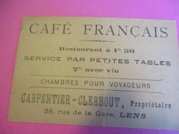 Image Commerciale à Devinette/Café Français/Chambre Pour Voyageurs/Carpentier-Clerbout/ LENS /Vers 1900-1910 CAC159 - Sports & Tourisme