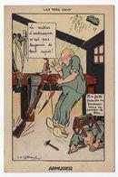 Humour--militaria--Armurier--illustrateur J.P  ..... -- - Humour