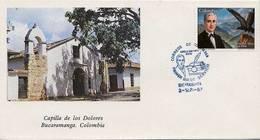 Lote 1728F, Colombia, 1987, SPD-FDC,Aurelio Martinez Mutis, Book, Bird, Mountain, Writer - Colombia