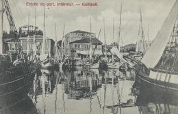 TURQUIE GALLIPOLI 1920 Entrée Du Port Intérieur TBE - Turquie