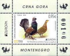 2019 Fauna, Europa National Birds, Tetrao Urogallus, Montenegro, MNH - Montenegro