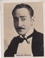ADOLPHE MENJOU. CIGARRILLOS CRACK. CARD TARJETA COLECCIONABLE TABACO. CIRCA 1940s SIZE 5x6cm - BLEUP - Personalità