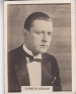 KENNETH HORLAN. CIGARRILLOS CRACK. CARD TARJETA COLECCIONABLE TABACO. CIRCA 1940s SIZE 5x6cm - BLEUP - Personalità