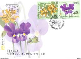 2006, FDC, Flora, Montenegro, MNH - Montenegro