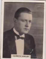 KENNETH HORLAN. CIGARRILLOS CRACK. CARD TARJETA COLECCIONABLE TABACO. CIRCA 1940s SIZE 5x6cm - BLEUP - Berühmtheiten