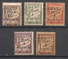 Grand Liban - 1924 - Taxe TT N°Yv. 1 à 5 - Série Complète - Neuf * / MH VF - Segnatasse