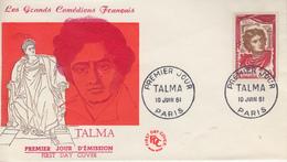 Enveloppe  FDC  1er  Jour   FRANCE    TALMA   1961 - FDC