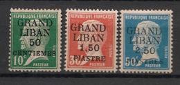 Grand Liban - 1924 - N°Yv. 15 à 17 - Pasteur - Série Complète - Neuf * / MH VF - Gran Libano (1924-1945)