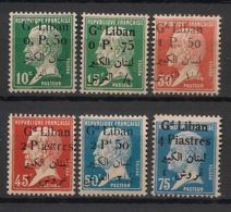 Grand Liban - 1924-25 - N°Yv. 39 à 44 - Pasteur - Série Complète - Neuf * / MH VF - Gran Libano (1924-1945)