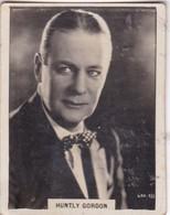 HUNTLY GORDON. CIGARRILLOS CRACK. CARD TARJETA COLECCIONABLE TABACO. CIRCA 1940s SIZE 5x6cm - BLEUP - Personalità