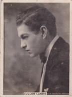 CULLEN LANDIS. CIGARRILLOS CRACK. CARD TARJETA COLECCIONABLE TABACO. CIRCA 1940s SIZE 5x6cm - BLEUP - Personalità