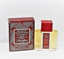 Miniatures De Parfum    REVILLON POUR  HOMME    EDT  7  Ml  + BOITE - Miniatures Hommes (avec Boite)