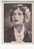 DOLORES COSTELLO. CIGARRILLOS CRACK. CARD TARJETA COLECCIONABLE TABACO. CIRCA 1940s SIZE 5x6cm - BLEUP - Personalità