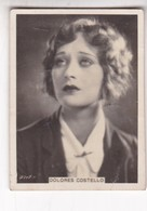 DOLORES COSTELLO. CIGARRILLOS CRACK. CARD TARJETA COLECCIONABLE TABACO. CIRCA 1940s SIZE 5x6cm - BLEUP - Célébrités